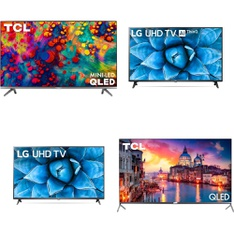 24 Pcs - LED/LCD TVs - Refurbished (GRADE A) - LG, TCL, HITACHI