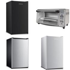 Pallet - 10 Pcs - Bar Refrigerators & Water Coolers, Microwaves - Customer Returns - Hamilton Beach, Hamilton, BLACK & DECKER, Mainstay's