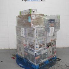 Pallet - 16 Pcs - Toasters & Ovens, Microwaves, Trimmers & Edgers - Tested NOT WORKING - GreenWorks, Hamilton Beach, Farberware, Oster