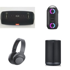 10 Pcs – Headphones & Portable Speakers – Refurbished (GRADE A) – Sony, JBL, LG, Anker