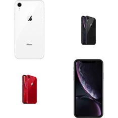 6 Pcs - Apple iPhone XR - Refurbished (GRADE A - Unlocked) - Models: MRYR2LL/A, MT012LL/A, MRYT2LL/A, MT3V2LL/A