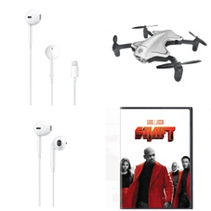 Pallet – 291 Pcs – In Ear Headphones, Drones & Quadcopters Vehicles, DVD Discs, Other – Customer Returns – Apple, Protocol, Onn, Warner Brothers