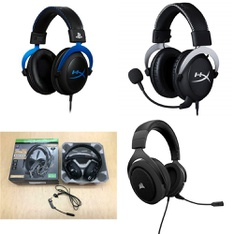 295 Pcs - Plantronics 211221-60 RIG 500 PRO Dolby Atmos Gaming Headset, Black, HyperX HX-HS5CX-SR CloudX Xbox Gaming Headset, HyperX HX-HSCLS-BL/AM Cloud - PS4 Gaming Headset, CORSAIR HS50 Stereo Gaming Headset - Refurbished (GRADE A)