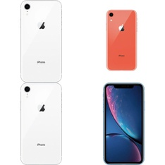 7 Pcs - Apple iPhone XR - Refurbished (GRADE A - Unlocked) - Models: MT012LL/A, MRYT2LL/A, MRYW2LL/A, MRYX2LL/A