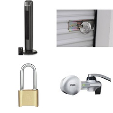3 Pallets - 344 Pcs - Home Security & Safety, Hardware, Fans, Hand Tools - Customer Returns - Brink's, Mainstay's, Brinks, Bestway