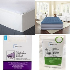 Pallet – 46 Pcs – Covers, Mattress Pads & Toppers, Comforters & Duvets – Customer Returns – Mainstay's, Aller-Ease, Mainstays, Beautyrest