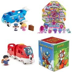 Pallet – 192 Pcs – Baby Toys, Boardgames, Puzzles & Building Blocks, Dolls, Action Figures – Customer Returns – Little People, Hasbro, Hatchimals, Gladius