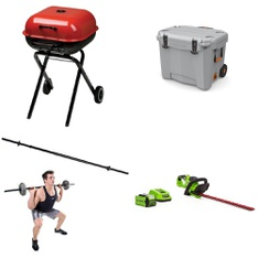 Pallet - 23 Pcs - Exercise & Fitness, Accessories, Grills & Outdoor Cooking, Camping & Hiking - Customer Returns - Gold's Gym, GreenWorks, Americana, Newell Brands