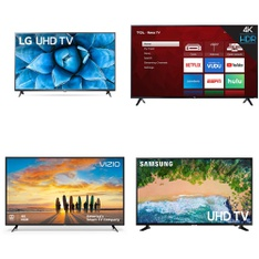 5 Pcs – LED/LCD TVs – Refurbished (GRADE C) – TCL, VIZIO, LG, Samsung