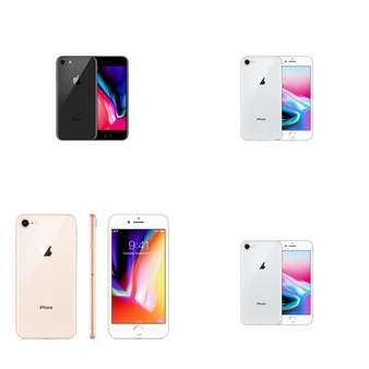 21 Pcs – Apple iPhone 8 – Refurbished (GRADE A – Unlocked) – Models: MQ6K2LL/A, MQ7H2LL/A, MQ7G2LL/A, MQ6L2LL/A