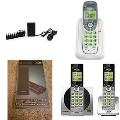 3 Pallets – 2490 Pcs – Accessories, Cordless / Corded Phones, Chargers, Other – Customer Returns – Blackweb, Onn, VTECH, Plantronics