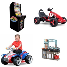Pallet – 7 Pcs – Vehicles, Game Room – Customer Returns – KidTrax, Smartrike, Red Planet, Step 2 – Streetsboro – DROPSHIP