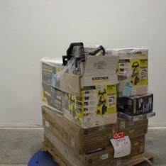 Pallet - 12 Pcs - Fireplaces, Hardware, Pressure Washers - Customer Returns - Emerson, Select Surfaces, Karcher