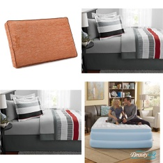 Pallet – 22 Pcs – Covers, Mattress Pads & Toppers, Comforters & Duvets – Customer Returns – Mainstay's, Beautyrest, Dream Serenity