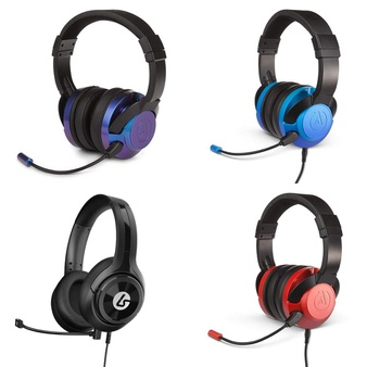 8 Pcs – PowerA 1512377-01 Fusion Wired Stereo Gaming Headset with Mic, Universal Connection, LucidSound LS10P Wired Gaming Headset for PlayStation 4, Black, PowerA 1512373-01 Fusion Wired Stereo Gaming Headset with Mic for PlayStation 4 Xbox One, PowerA 1512376-01 Fusion Wired Stereo Gaming Headset with Mic, Crimson Fade – Refurbished (GRADE A, GRADE B)