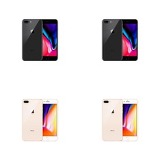 8 Pcs - Apple iPhone 8 Plus - Refurbished (GRADE B - Unlocked) - Models: MQ8D2LL/A, 3D061LL/A, MQ8D2LL/A - TF, MQ8F2LL/A