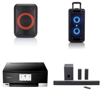 Pallet – 33 Pcs – Portable Speakers, All-In-One – Customer Returns – Onn, Canon