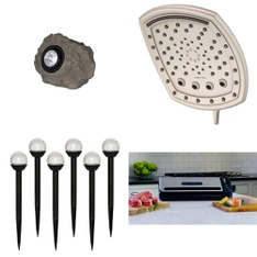 3 Pallets – 321 Pcs – Lighting & Light Fixtures, Kitchen & Dining, Home Health Care, Hardware – Customer Returns – Mainstays, Foodsaver, Oxygenics, Health o Meter