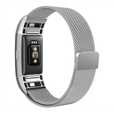 28 Pcs - North Charge 2 Milanese Loop Fitness Monitor Strap - Silver - New, Open Box Like New, Like New - Retail Ready