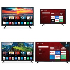 12 Pcs – LED/LCD TVs – Refurbished (GRADE A, GRADE B) – VIZIO, TCL, Onn, LG