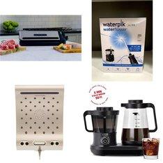 Pallet - 63 Pcs - Kitchen & Dining, Kitchen & Bath Fixtures, Oral Care - Customer Returns - Foodsaver, Energy Technology Labs, WATERPIK