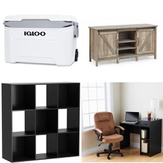 Pallet – 24 Pcs – Camping & Hiking, Office, Bedroom – Customer Returns – Mainstay's, Igloo, Better Homes & Gardens, Kershaw