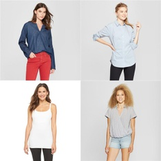 166 Pcs - Shirts & Blouses - New - Retail Ready - Universal Thread, Gilligan & O'Malley, A New Day, Ingrid & Isabel