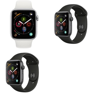 5 Pcs – Generation 4 Apple Watch – 44MM – GPS – Refurbished (GRADE A) – Models: MU6A2LL/A, MU6D2LL/A, 3E068LL/A