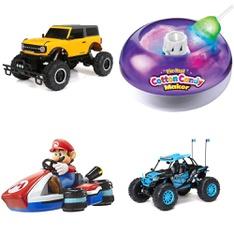 Pallet – 35 Pcs – Vehicles, Trains & RC, Dolls, Boardgames, Puzzles & Building Blocks – Customer Returns – New Bright, Adventure Force, JAKKS PACIFIC, Air Hogs