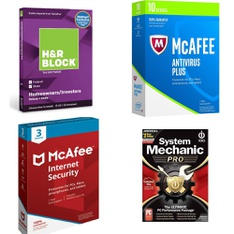 71 Pcs - Computer Software - New, Like New, Used - H&R Block, McAfee, IOLO Technologies, Activision