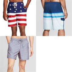 52 Pcs - Swimwear - New - Retail Ready - Goodfellow & Co, Americana