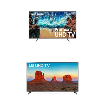 2 Pcs – LED/LCD TVs (70″ – 82″) – Refurbished (GRADE C, No Stand) – LG, Samsung