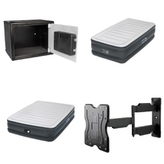 Pallet - 45 Pcs - Safes, Camping & Hiking, Lamps, Parts & Accessories - Customer Returns - Pen + Gear, Aerobed, OmniMount, Samsung