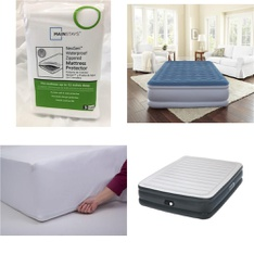 3 Pallets – 90 Pcs – Covers, Mattress Pads & Toppers, Camping & Hiking – Customer Returns – Mainstays, Mainstay's, Beautyrest, Aerobed