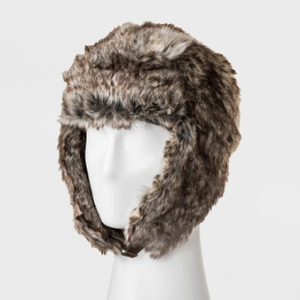 100 Pcs – Goodfellow & Co Men's Faux Fur Trapper Hat, One Size, Brown – 80% Acrylic, 20% Polyester – New – Retail Ready