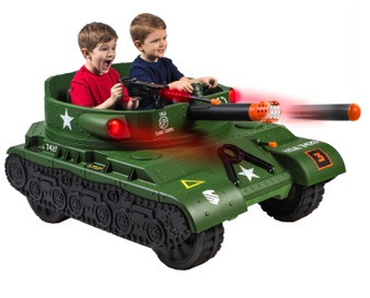 Pallet – Action Wheels 24 Volt Thunder Tank Ride-On With Working Cannon and Rotating Turret – Customer Returns