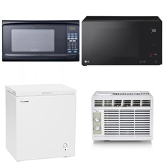 Pallet – 12 Pcs – Microwaves, Unsorted – Customer Returns – Sunbeam, Hamilton Beach, Midea, LG