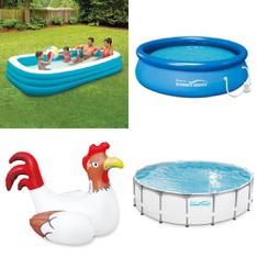 6 Pallets - 109 Pcs - Pools & Water Fun, Action Figures, Not Powered, Outdoor Sports - Customer Returns - Play Day, SwimSchool, Summer Waves, Summer Waves Elite