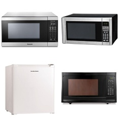 Pallet – 9 Pcs – Microwaves, Toasters & Ovens – Customer Returns – Hamilton Beach, Panasonic, Rival, Oster