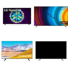 15 Pcs – LED/LCD TVs – Refurbished (GRADE C) – Samsung, VIZIO, LG, Onn