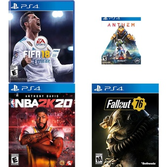 150 Pcs – Sony Video Games – New, Used – FIFA 18 Standard Edition (PlayStation 4), NBA 2K20 (PS4), Anthem (PS4), Call of Duty: Advanced Warfare (PS4)