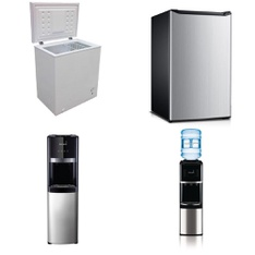 Pallet - 6 Pcs - Bar Refrigerators & Water Coolers - Customer Returns - Primo, Hamilton Beach, Artic King, BLACK & DECKER