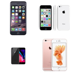 CLEARANCE! 6 Pcs - Apple iPhones - Refurbished (GRADE D) - Models: MQ422LL/A - TF, ME529LL/A, MN1L2LL/A - TF, MP7T2LL/A - TF