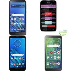 CLEARANCE! 50 Pcs – Cellular Phones – Refurbished (GRADE A, GRADE B, GRADE C – Not Activated) – Motorola, LG, Samsung, TCL