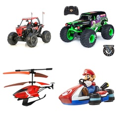 6 Pallets - 169 Pcs - Vehicles, Trains & RC, Vehicles, Boardgames, Puzzles & Building Blocks, Not Powered - Customer Returns - New Bright, Huffy, Adventure Force, Sky Rover