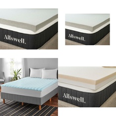 Pallet – 14 Pcs – Covers, Mattress Pads & Toppers – Customer Returns – Allswell, Mainstay's
