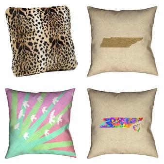 25 Pcs – Pillows, Covers & Mattress Toppers – Open Box Like New, Like New, Used – Retail Ready – ArtVerse, Donna Salyers' Fabulous-Furs, Lavish Home, ViscoSoft