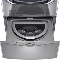 Lowes - Pallet - LG Electronics WD100CV 27 in. 1.0 cu. ft. SideKick Pedestal Washer with TWINWash System Compatibility in Graphite Steel - New (Scratch & Dent)