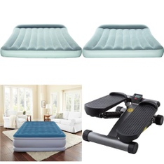 3 Pallets - 123 Pcs - Camping & Hiking, Mattresses, Exercise & Fitness, Hunting - Customer Returns - Coleman, Bestway, Beautyrest, As Seen On TV