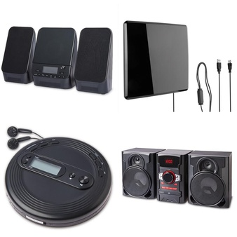 Pallet – 103 Pcs – Accessories, Receivers, CD Players, Turntables – Customer Returns – onn., Onn, One For All, Monster